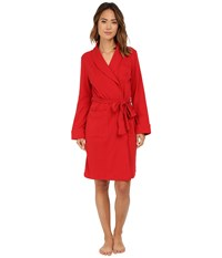 Lauren Ralph Lauren Essentials Quilted Collar And Cuff Robe Holiday Red Women's Robe