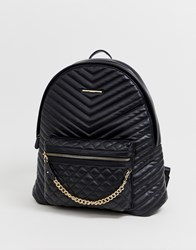 Aldo Backpack With Front Pocket And Zip Chain Black