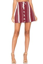 Lovers Friends Beachwood Skirt Burgundy