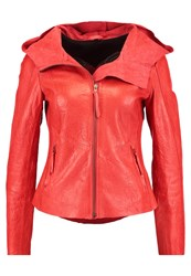 Freaky Nation Sundance Leather Jacket Orange