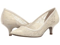 Adrianna Papell Lois Lace Ivory 1890 Lace Women's 1 2 Inch Heel Shoes White