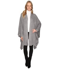 Fate Knit Wrap Heather Grey Women's Clothing Gray