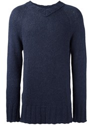 Societe Anonyme V Neck Jumper Blue