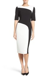 Maggy London Women's Colorblock Midi Dress