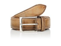 Harris Men's Burnished Leather Belt Yellow