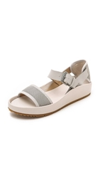 Joe's Jeans Pomeroy Footbed Sandals Off White