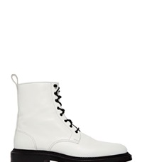 Archive Yang Li Leather Lace Up Boots White