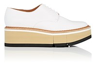 Robert Clergerie Barbara Leather Platform Oxfords White