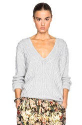 Derek Lam 10 Crosby V Neck Sweater In Gray