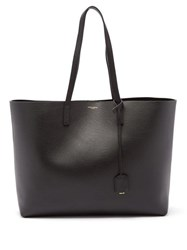 Saint Laurent East West Medium Leather Tote Black