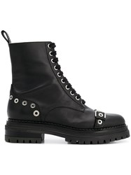 Sergio Rossi Lace Up Boots Black