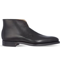 Crockett Jones Tetbury Two Eye Chukka Boots Black