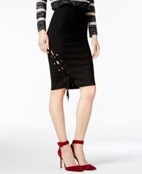 Guess Pia Lace Up Skirt Jet Black