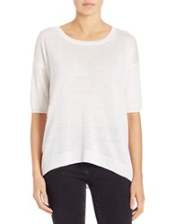 Lord And Taylor Oversized Boxy Pullover White