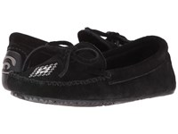 Manitobah Mukluks Canoe Moccasin Suede Black Women's Moccasin Shoes