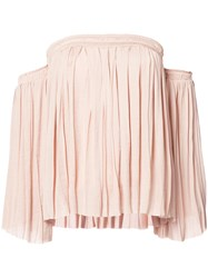 Elizabeth And James Off Shoulder Blouse Women Polyester Xs Nude Neutrals