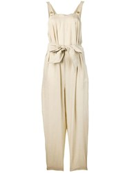 Emporio Armani Bow Detail Playsuit Neutrals