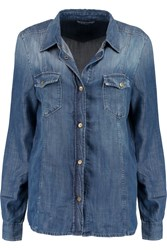 7 For All Mankind Denim Shirt Blue