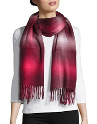 Lord And Taylor Fringe Wrap Scarf Burgundy