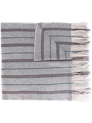 Isabel Marant 'Arly' Oversized Scarf Nude And Neutrals