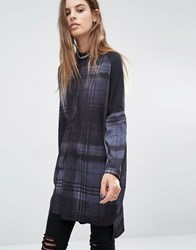 Religion Tunic Shirt In Check Jet Black Checker Multi