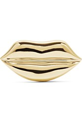 Alison Lou Lip 14 Karat Gold Earring One Size