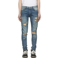 Nahmias Indigo Distressed Jeans