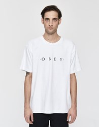 Obey S S Heavyweight Classic Box Tee In White