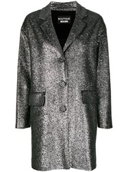 Boutique Moschino Sequin Embellished Coat Metallic