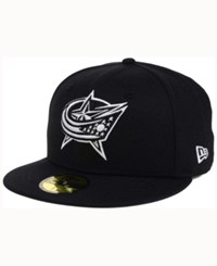 New Era Columbus Blue Jackets Black Dub 59Fifty Cap Black White