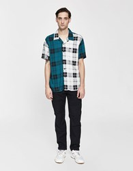 Obey Post Patched Button Up Shirt Patchwork Multi