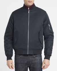 Ben Sherman Navy Cotton Bomber Jacket Blue
