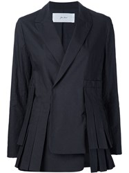 Julien David Pleated Blazer Black