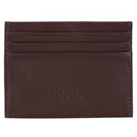 Ralph Lauren Polo Pebble Leather Card Holder Brown