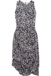 Vivienne Westwood Anglomania Eight Draped Printed Cotton Voile Dress Gray