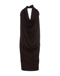 Fabrizio Lenzi Knee Length Dresses Cocoa
