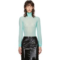 Maison Martin Margiela Blue Turtleneck Bodysuit