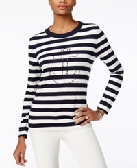 Tommy Hilfiger Whimsy Long Sleeve Crewneck Snow White Print