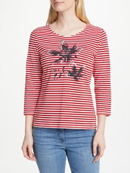 Gerry Weber Placement Print T Shirt Red White
