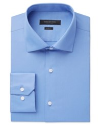Marc New York Slim Fit Motion Ease Collar Wrinkle Free Solid Dress Shirt Blue