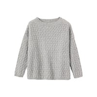 Toast Teardrop Textured Jumper Grey