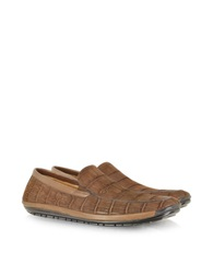 Pakerson Brown Sueded Alligator Loafer