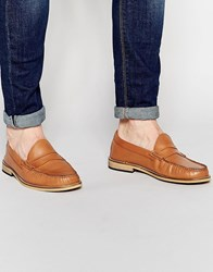 Frank Wright Penny Loafers In Tan Tan