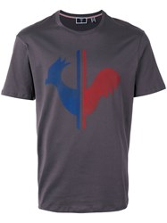 Rossignol M Renaud Rooster T Shirt Men Cotton 48 Grey
