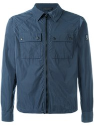 Belstaff Zipped Shirt Jacket Blue