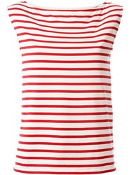 Saint Laurent Striped Tank Top Red