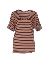 Devotion Topwear T Shirts Women Light Brown