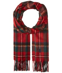 Polo Ralph Lauren Essential Tartan Scarf Red Stewart Scarves Multi