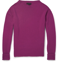 Burberry Cashmere Blend Boat Neck Sweater Pink