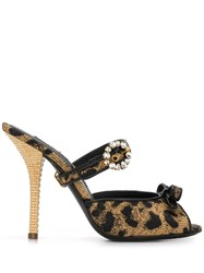 Dolce And Gabbana Leopard Print Buckled Mules 60